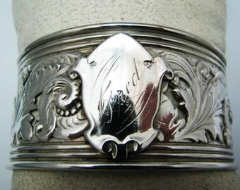 c226 Lovely Vintage Sterling Silver Filigree Cuff Bracelet