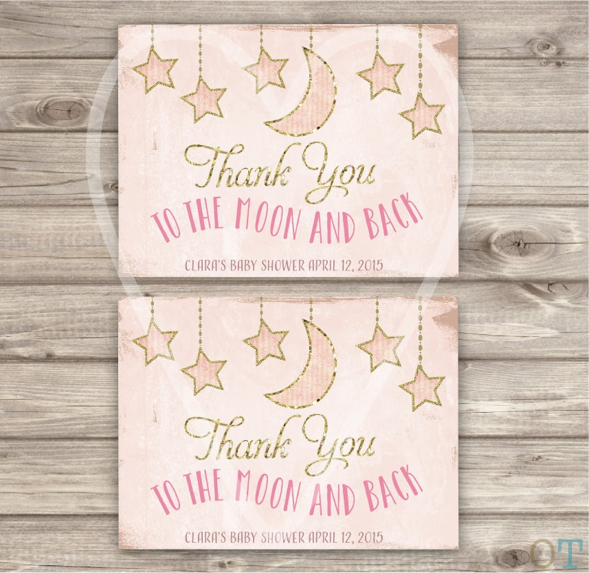 Thank You Cards Twinkle Twinkle Little Star Theme Baby Shower