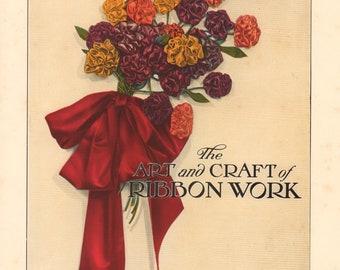 Original 1928 Illustrated Milliner Book The Art & Craft of Ribbon Work