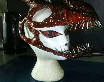 Dragon head mask headpiece, headdress, cosplay, game of thrones, fantasy, rider, gothic