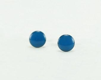 ROYAL BLUE Stud Earrings - Royal Blue Earrings - Royal Blue Ear Studs - Royal Blue Earrings Stud - Surgical Steel Earrings - 4mm / 6mm / 8mm