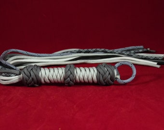 Lightweight Greyscale Paracord Flogger