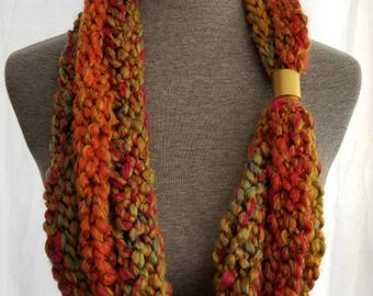 Scarf necklace, fashion scarf, strand scarf, Burst of Energy
