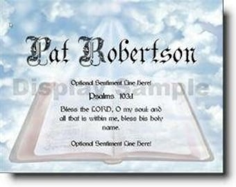 Scripture on Art Personalized Print