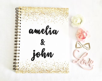 Personalized Wedding Planner, wedding planning, bridal planner, wedding planner book, wedding checklist, gift for her, engagement gift