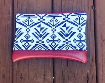 Tribal Clutch, Print Clutch, Clutch Purse, Foldover Clutch, Clutch, Gifts for her,Purse,Bag,Pouch,boho,bohemian bag,boho bag