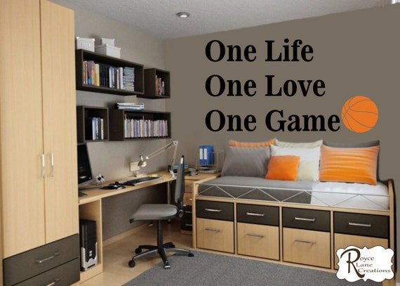 Basketball Quote For Teen Boys Bedroom Sports Wall Decal - Wall decals quotes for teenagers