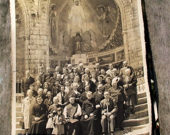 Authentic Old Picture Pilgrims Lourdes France 1939 Lovely