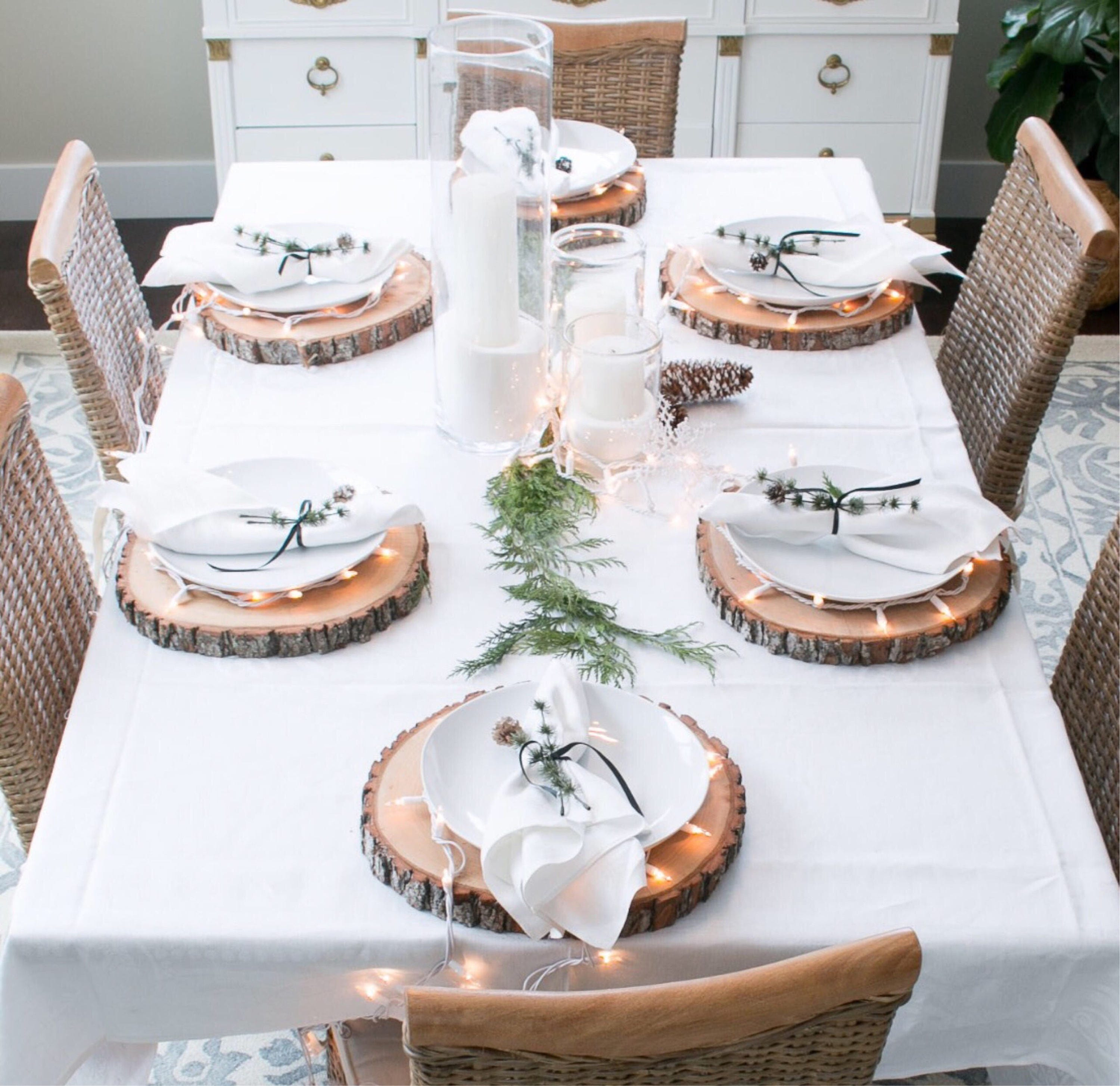 10 treated wood slices for wedding centerpieces wedding wood cookies wood rounds tree cookies tree junglespirit Gallery