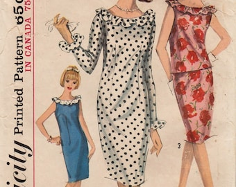 Simplicity 5824 / Vintage 1960s Sewing Pattern / Dress Skirt Top / Size 10 Bust 31