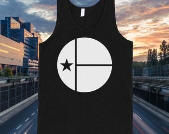 Austin Texas Circle Flag Tank Top