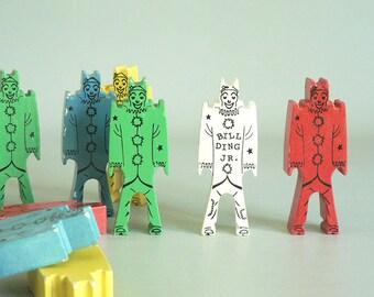Bill Ding Stacking Men Toy Kids Play Blocks