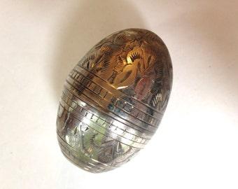 Victorian Vinaigrette Sterling Silver Egg Smelling Salts Silver