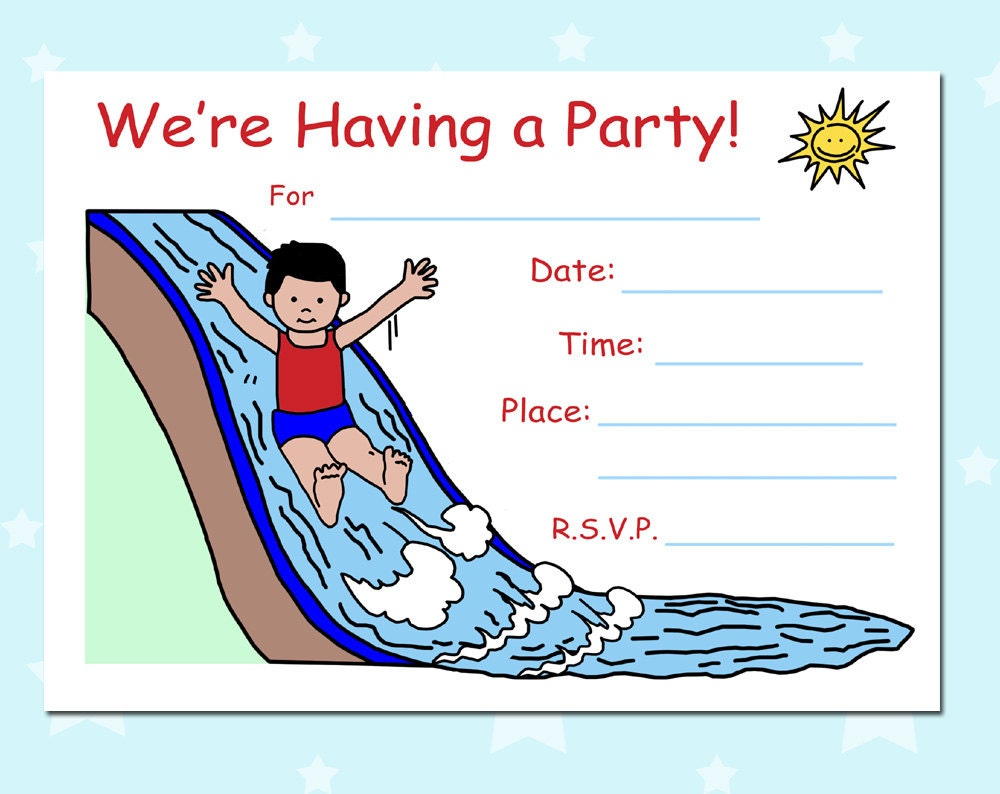 blank birthday party invitations