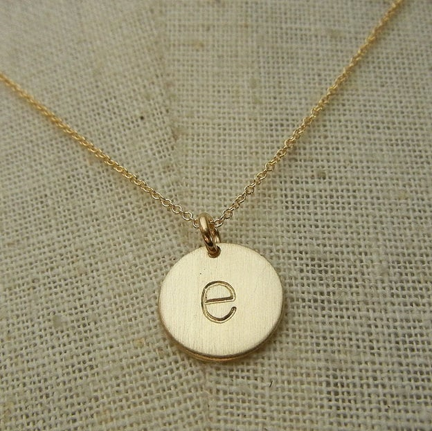 Gold letter necklace gold initial necklace letter charm zoom aloadofball Gallery