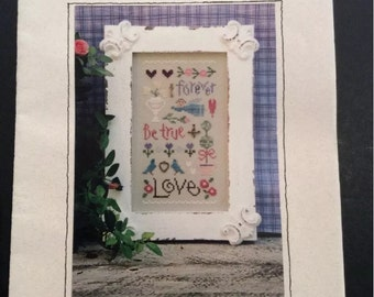 Love Sampler Cross Stitch Kit Lizzie Kate Gentle Art Thread Linen Charms Chart