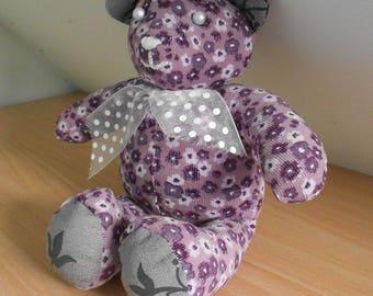 Teddy purple liberty floral