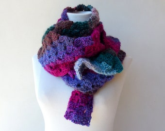 Colorful Winter Scarf Crochet scarf Womens Scarf