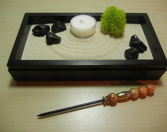 Mini02 - Mini Zen Garden with Tea Light Candle - DIY Kit