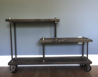 Industrial Modern Media Console Contemporary TV Stand entry table FREE SHIP