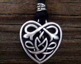 Celtic Heart Pendant   Celtic Jewelry   Irish Jewelry   Scottish Jewelry   Handcrafted Jewelry   Fine Pewter by Treasure Cast