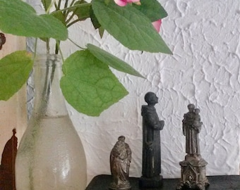 3 Religious Statues, St Anthony, Vintage Statues, Catholic Figures, Religious Decor, Small Statues