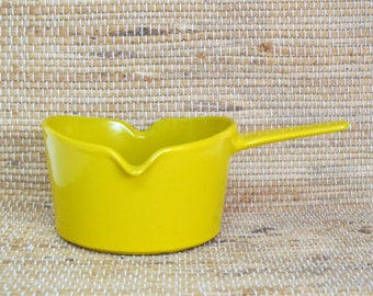 Vintage Copco Michael Lax Yellow Butter Warmer