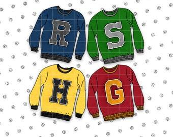 Classic Wizard House Sweater BUNDLE | DIGITAL