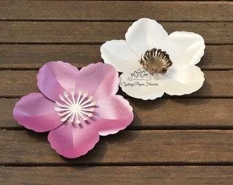 buttercup paper flower template tutorial manualsvg pdf cricut silhouette cameo diy paper flower patternpaper flower centre download file