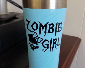 zombie girl decal