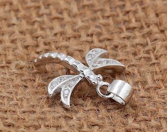 Sterling Silver Dragonfly Semi Set Pendant | Semi Set Pendant For Pearl