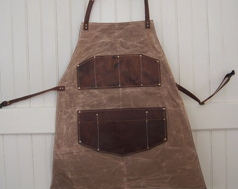 Shop Apron Waxed Canvas and Leather
