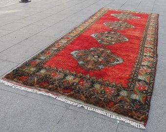 runner rug , rug 4.5 x 11, large rug vintage, runner rug, turkish oushak large rug, turkish rug, rugs large rug, 680