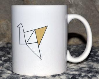 The way gold Origami Cranes mug Cup customizable Christmas gift