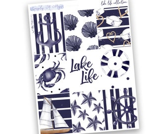 Lake Life Collection - Full Boxes | Planner Stickers for Erin Condren Vertical Life Planner