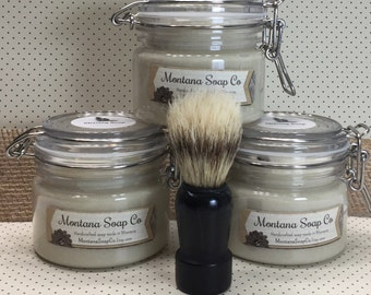 Shaving Soap with or without Brush Shaving Cream for Him Clean Hippy