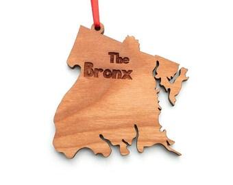 NYC New York City Bronx Borough Ornament - The Bronx NYC Borough Wood Ornament