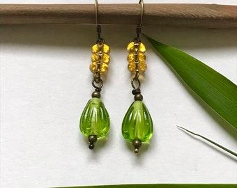 Citrus Glass Drop Earrings