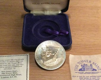 British Portsmouth City of Heritage Nickel Silver Coin/Medal