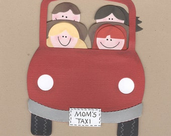 Finished Car (Mom's Taxi) Die Cuts for Scrapbooking pages