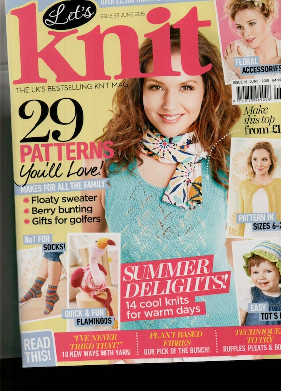 Let's Knit Knitting Magazine Issue 93 June 2015