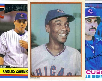 CHICAGO CUBS Baseball Team Lot - 250 Assorted Cards