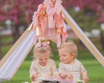 Ivory Lace Dress for Toddler or Little Girls Rustic Vintage Flower Girl Dress