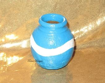 Legend of Zelda Wind Waker Item Pot Clay Mini Vase Hand Painted Custom made by TorresDesigns