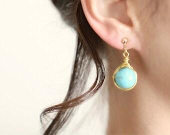 EARTH - gemstone earrings / clips on earrings