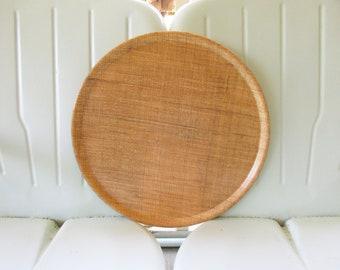 Round Rafiaware Tray, Fiberglass Burlap Woven Tray, Vintage Mid Century Serving Tray, Luau Tiki Tray, Outdoor Party Tray, Retro Barware Tray