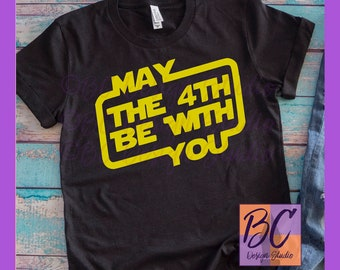 May the 4th Be With You, Star Wars Inspired, Women's Bella Canvas Black Tee Shirt, Ladies, May the Fourth, Star Wars Day, S, M, L, XL, 2XL