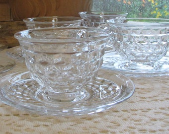 Fostoria American Cups and Saucers Vintage Dinnerware and Replacements Six (6) Sets