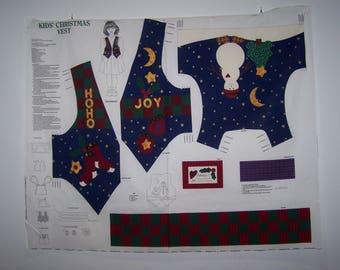 Kids Christmas Vest Panel