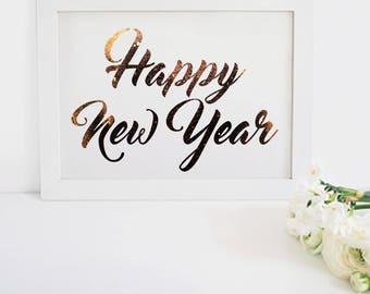 2018 - Happy New Year Printable Download - New Years Party Decoration